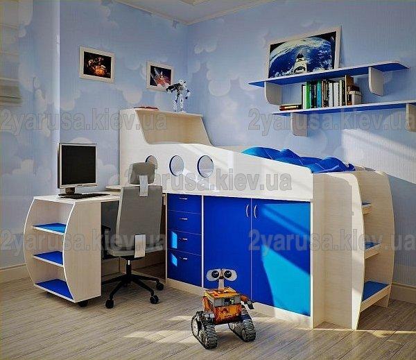 современная детская кроватка трансформер двухъярусные кровати